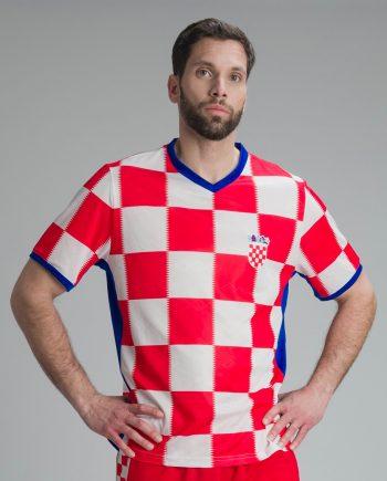 hrvatski dres s vezenim hrvatskim grbom