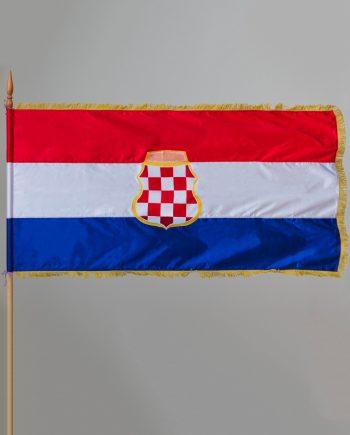 svilena zasava Herceg Bosne s resama za unutarnju uporabu
