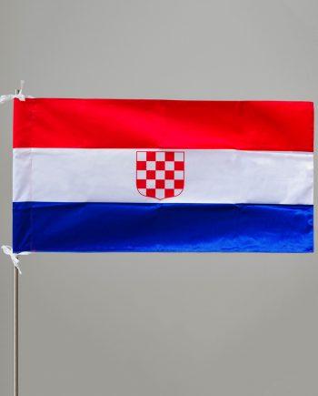 dvostrana svilena zastava s povijesnim grbom
