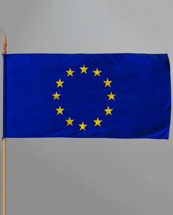 svilena zastava Europske unije za unutarnju uporabu s vezenim zvjezdicama