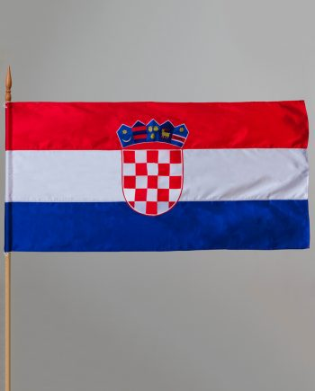 zastava hrvatske izrađena od svile