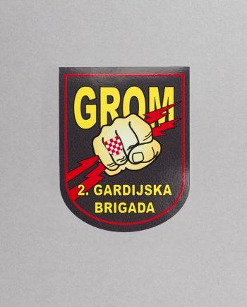 naljepnica u obliku grba 2.gardijske brigade Gromovi