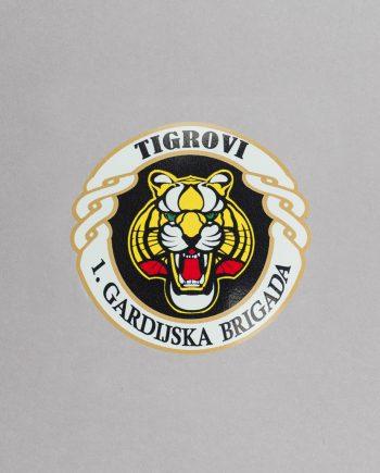naljepnica u obliku grba 1. gardijske brigade Tigrovi