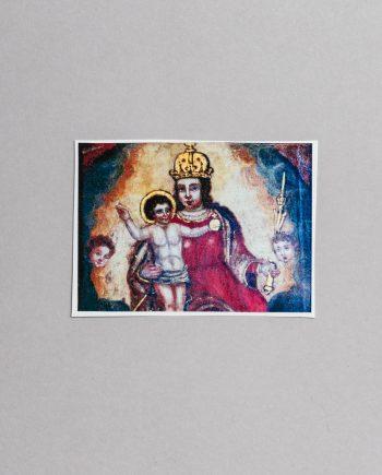 naljepnica sa slikom Gospe od Kamenitih vrata